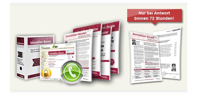 """Jetzt Ihr persönliches Kennenlern-Paket des """"Immobilien-Beraters"""" anfordern! Angebot nur bis 31.03.2012 gültig!"""